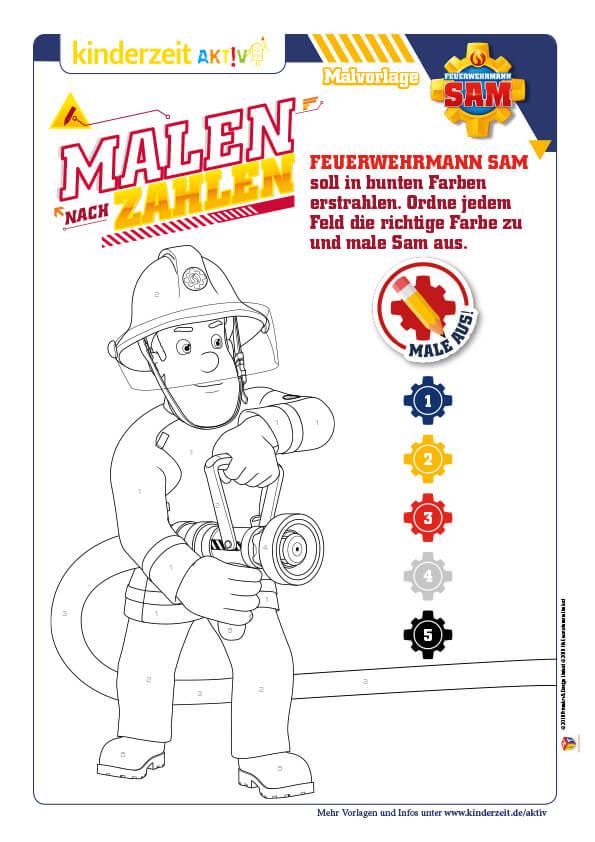 Mal Und Rätselspaß Mit Feuerwehrmann Sam Dem Helden Von