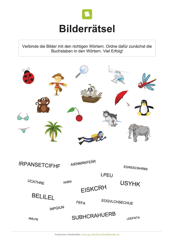 Nett Druckbare Bilderrätsel Für Kinder Fotos - Malvorlagen Von ...